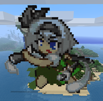 Youmu in Minecraft by Noob4u