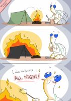 Optimistic Turtle goes camping by solray-chan