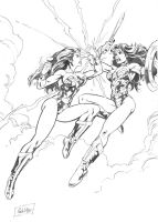 wonder woman classic vs wonder woman new 52 -V2 by ReneMicheletti