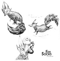 The Fox in Socks by Buuya