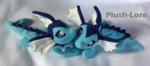 Vaporeon Floppy Plush by Plush-Lore
