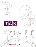 My First EVER Tak Drawings :3 by LeNaxROCK