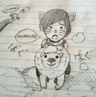 Phil on a lion by annaxxz