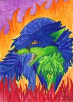 ACEO Dusty by Woodswallow