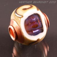 Scrolled copper capped Geode by booga119