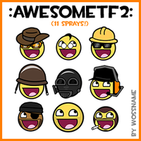 tf2 awsome faces by Fitzgaurd