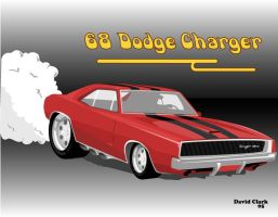 1968 Dodge Charger by D4v3yTh3D0rk