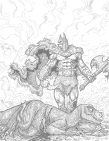 Primitive Batman by dendorrity