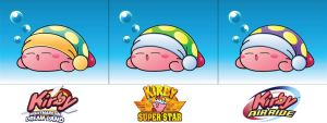 Sleep Kirby - 3 Variations by DPghoastmaniac2