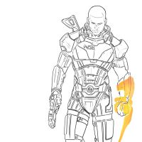 Mass Effect 3 Outlines by HerpDerp187