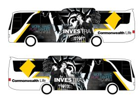 Investra Bus Ad design by ronaldesign