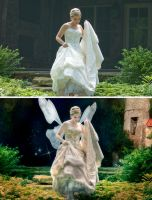 fairy bride before and after by greycamera