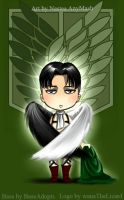 Wings of freedom - Levi`s chibi style by Nastea-AnyMash