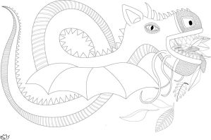Oto (Coloring Page) by AleLMT