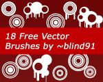 18 Free Vector Brushes by blind91
