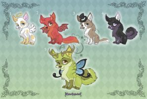 Adoptables: Cute Puppies by MySweetQueen