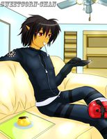 At home - Shadow Gijinka by Sweetcorn-chan