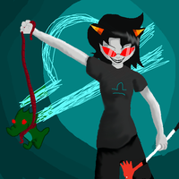 Terezi and her Scalemate by 0SkyKat0