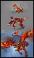 Charmander evolution by Baldraven