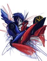 Arcee and Knock Out by aperraglio