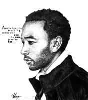 John Legend in Pen by iamthewizard2