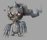 Banette Sketch by Tessawesome