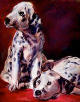 Dalmatian Pups by Wulff-Arts