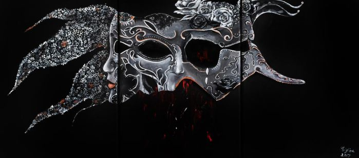 Venice Mask (3 faces, 3 feelings) by LoveChristi-Chan