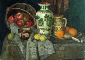 Still life with apples and oranges by AmsterdamArtGallery