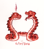 Monster a Day Challenge - Hydra by TopperHay