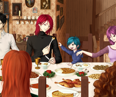 Lunch at the Burrow by stitch-84