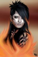 Ashley Purdy-Black Veil Brides- DRAWING by AngelNightmare1441