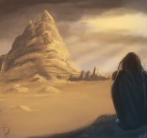 the lonely mountain by LaurineSurdon