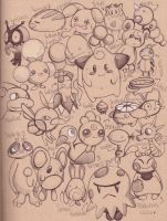 many pokemon by Child-Of-Neglect
