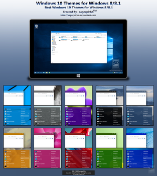 Windows 10 Themes for Win 8/8.1 Final by sagorpirbd