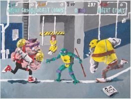 TMNT painting by steverinoz