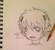 A sucky 15 minute sketch of Karkat. by cmbmint