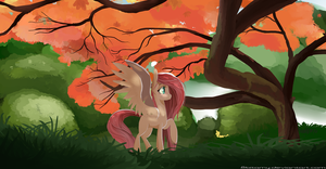 Fluttershys Tree by 8BitAmy