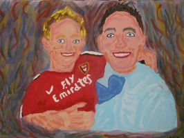 two boys 2 painting by kk20152d