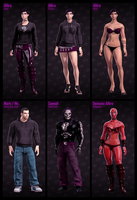 Saints Row Characters by Mark-MrHiDE-Patten