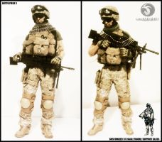 1:6 Scale Battlefield 3 Support Class Machine Gunn by liquidcrow