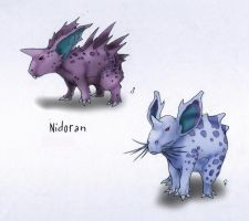 029 Nidoran (female) and 032 Nidoran (male)