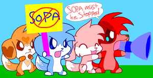 SOPA must be Stopped!! by HeartinaThePony