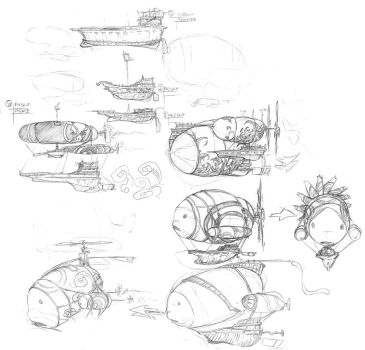 airship concepts by Ingmar-Nopens