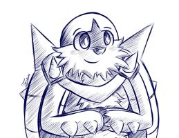 Chesnaught Doodle by Trozte