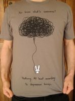 Depression Bunny Tshirt by sebreg