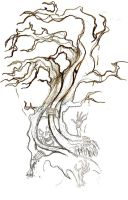 Hollow Tree Concept Sketch by Wikidtron