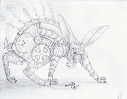 Steampunk Rabbit by Satyrtail