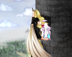CE: Zeref x Mavis : Rapunzel by sp00ntane0us