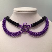 Black and Purple Full Persian Choker with Not Tao5 by chef-chad